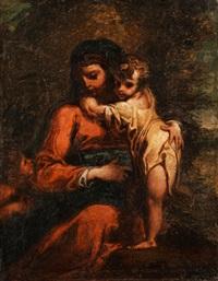 madonna mit kind und johannesknaben by annibale carracci