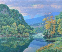 potomac river view towards west virginia by garnet w. jex