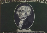 untitled - painting of george washington on a dollar bill by phillip hefferton