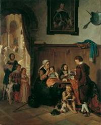 die speisung der armen familie by joseph haier