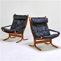 pair of armchairs by ingmar anton relling