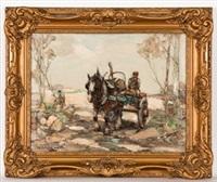 woodmen & logging cart by arthur macdonald