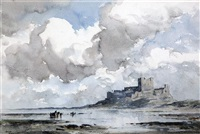 bamburgh castle by arthur gerald ackermann