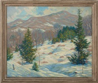 vermont winter landscape by wallace weir fahnestock