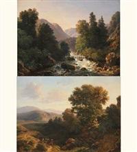 torrent, paysage animé (+ paysage de montagne animé; pair) by elisabeth fort-siméon