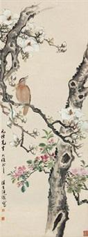 玉兰小鸟 by wang rong