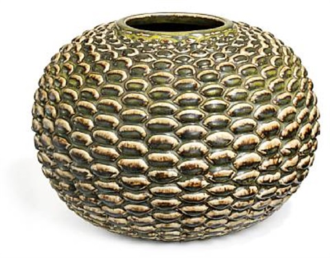 large round vase modelled in budded style by axel johann salto