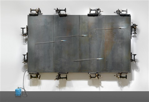ohne titel in 4 parts by jannis kounellis