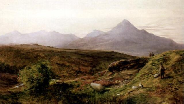 abend im schottischen hochland by p dunbar