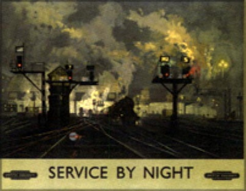Service by night kings cross british railways eastern region service by night kings cross british railways eastern region poster by publicscrutiny Image collections