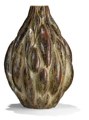 vase modelled in sprouting style by axel johann salto