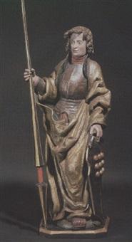 der märtyrer stehend mit brustpanzer und hochgestelltem kragen by hans leinberger