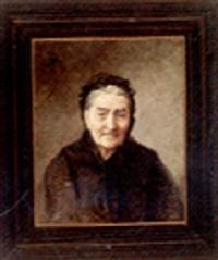 portræt af ældre kvinde by lucia mathilde von gelder
