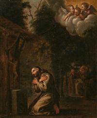 la visión de un ermitaño, probablemente san francisco de asís by francesco albani