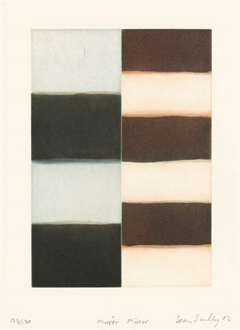 mirror mirror (portfolio of 1 w/text by jürgen habermas) by sean scully