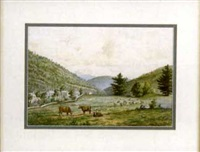 in the catskills at pine hill valley from nature by j. heyl raser