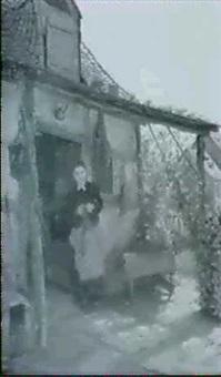junges madchen vor dem forsthaus in rhens'rhein by carl maria seyppel