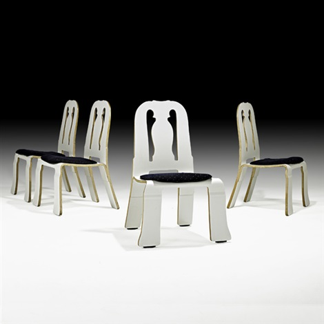 four queen anne chairs by robert venturi