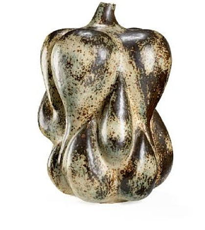 large fruit shaped sprouting style vase modelled with small mouth by axel johann salto