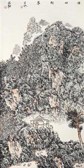 深山闲亭 (landscape) by xiao hongde