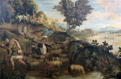 three shepherds by titian tiziano vecelli