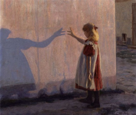 lille pige der leger med sin skygge by carl christian ferdinand wentorf
