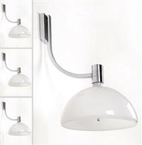 quattro lampade a parete della serie am as (4 works) by franca helg and franco albini