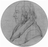 bildnisstudie des malers johann adam klein by johann michael (volz) voltz