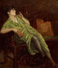 sitzende raucherin by armin glatter