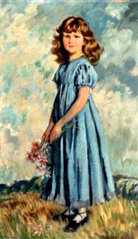 portrait of mary st. clair strong by frederic whiting