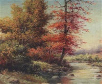 autumn stream by gustav miller