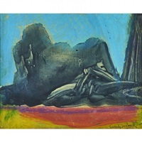 abstract mixed media on paper by emily mason