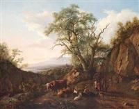 pastorale med hyrdepar by jean daniel huber