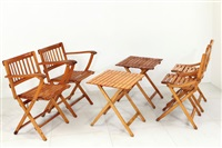 due tavolini, due poltroncine e due sedie (6 works) by fratelli reguitti