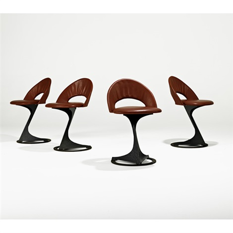 chairs from the tabourettli theatre (set of 4) by santiago calatrava