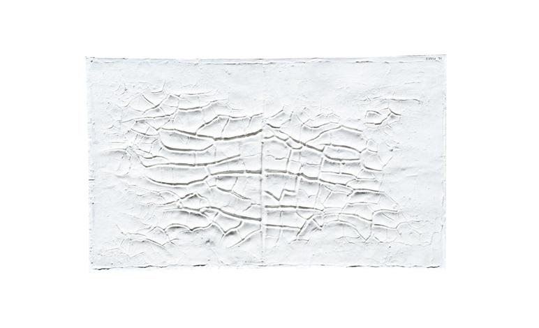 bianco cretto by alberto burri