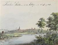 elb-reise von dresden nach hamburg (sketchbook w/ 41 works) by johann joachim faber