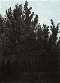 有绿背景的树 (tree) by xu jiacun