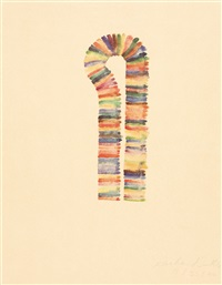 stacked color drawing (set of 11) by richard tuttle