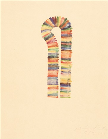 stacked color drawing set of 11 by richard tuttle