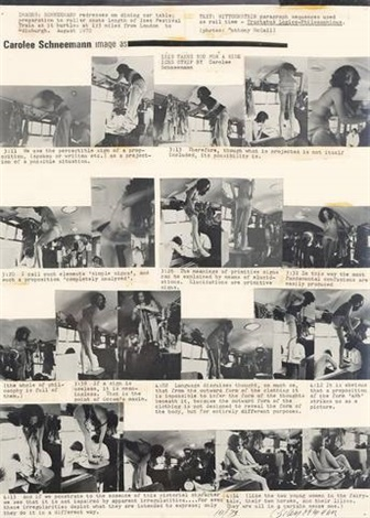 image as 2 works by carolee schneemann