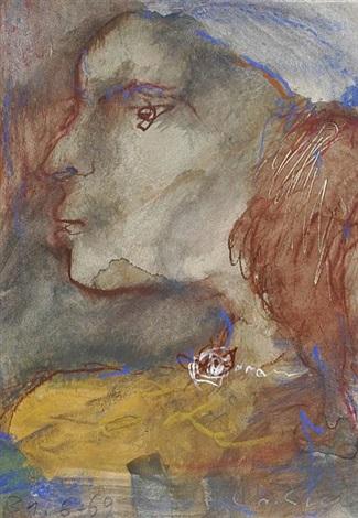 rahel im profil nach links by emil wachter