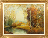 landscape w/stream by george thompson pritchard