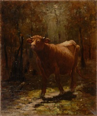 portrait of a cow by wilbur h. lansil