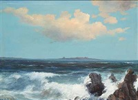 kystparti med udsigt mod en o by alexander reich-staffelstein