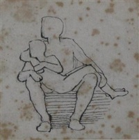 a man with a boy on his lap by john flaxman