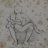 a man with a boy on his lap by john flaxman