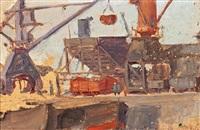 vistas portuarias (2 works) by valentín de zubiaurre