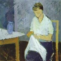 interior med kvinde by albert gammelgaard
