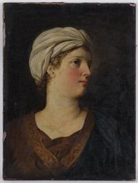 portrait de femme au turban by marie-victoire lemoine